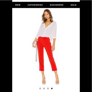 NWT Theory Red Basic Pull On Crop Pant Size 0